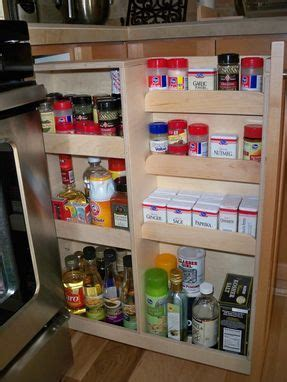 Handmade Pull Out Spice Rack by Noble Brothers Custom