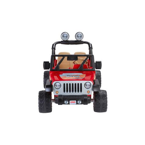 red toy jeep power wheels 12v battery toy ride on red jeep wrangler