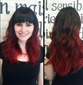 Ombré Hair Rouge : couleur cheveux noir reflet rouge kz48 jornalagora ~ Melissatoandfro.com Idées de Décoration