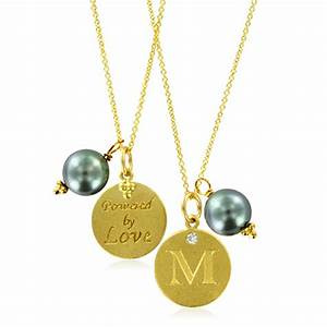 Initial necklace pearl charm letter m diamond pendant for Letter m pendant necklace