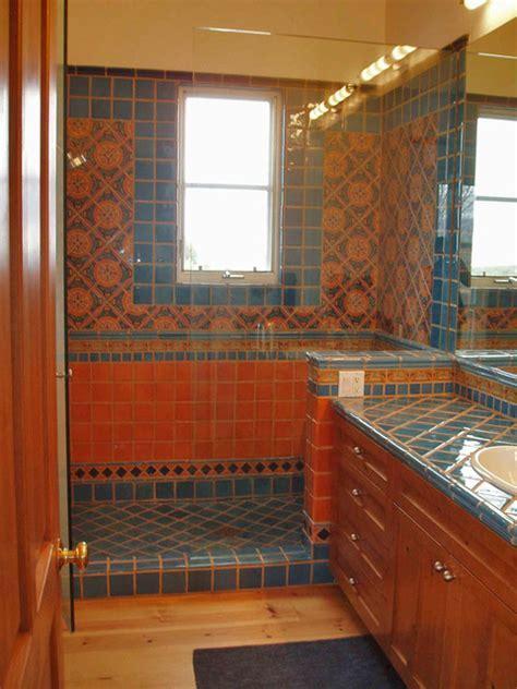 Hot Mexican Colors Santa Fe, NM   Mediterranean   Bathroom