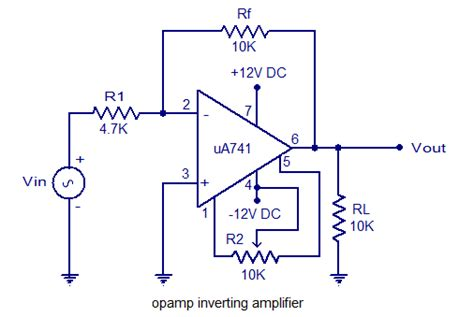 Inverting Amplifier Using Opamp. Practical Opamp Amplifier