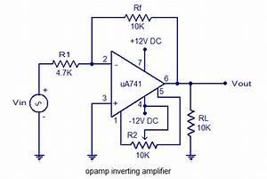 Inverting Amplifier Using Opamp Circuit Diagram World