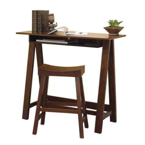 how tall is a desk home office desks tall trestle desk with stool dark