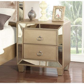 Mirrored Nightstand Overstock by Best Mirrored Nightstand Products On Wanelo