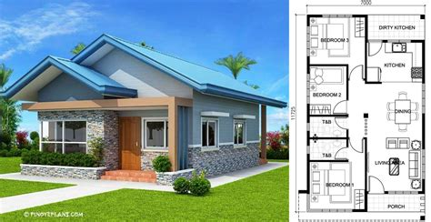 bedroom bungalow house plans engineering discoveries