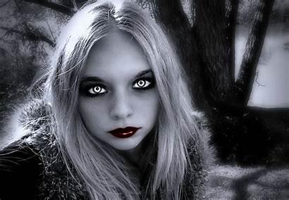 Mystical Woman Dark Lipstick Vampire Background Fantasy