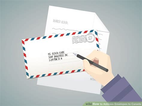 Apartment Number Canada by Easy Ways To Address Envelopes To Canada Wikihow