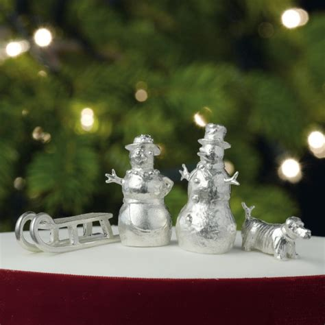 mrs snowman sterling silver christmas cake decoration
