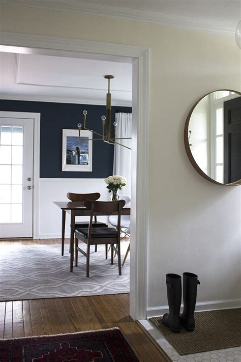 Dining Room In Entryway by A Moody And Modern Dining Room Room For Tuesday