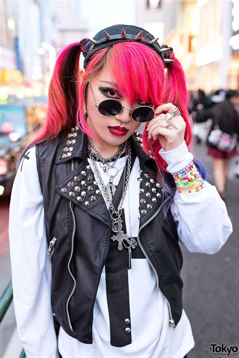 Harajuku Rock Girl W Dip Dye Hair Spike Platforms