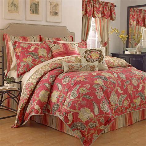 waverly eastern myth radish pc queen comforter set home