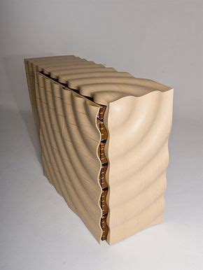 edward johnson ripples chest  drawers ash walnut