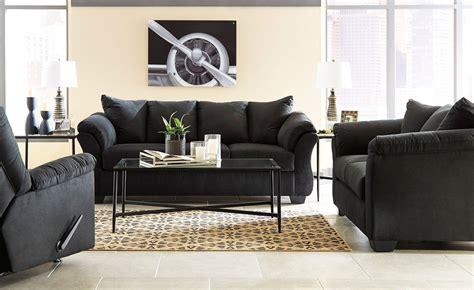 darcy black living room set signature design furniture cart