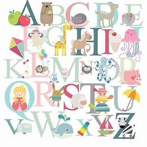 alphabet fabric wall stickers by littleprints With fabric letter stickers