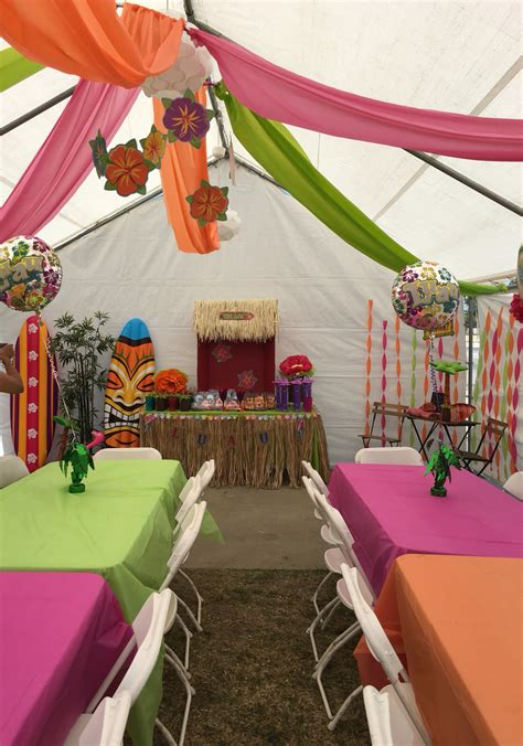 tropical table ls cheap diy decorations for a luau theme party great way to