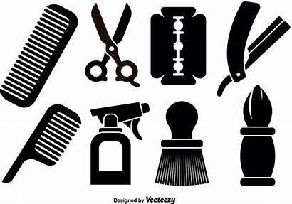 Barber Tools Icons Svg Clipart Graphics Icone
