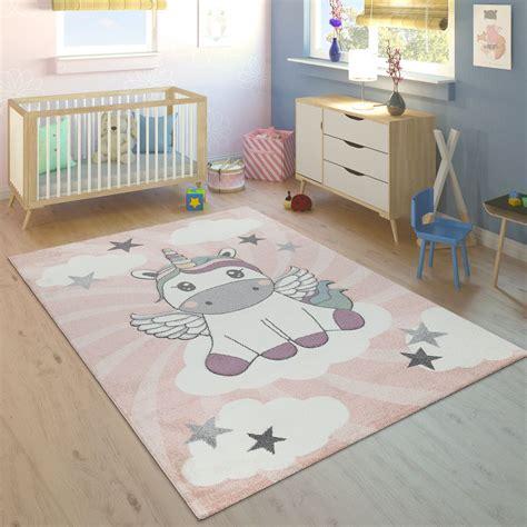 Teppich Kinderzimmer Mädchen Lila by Teppich Kinderzimmer M 228 Dchen Einhorn Wolken Teppich De