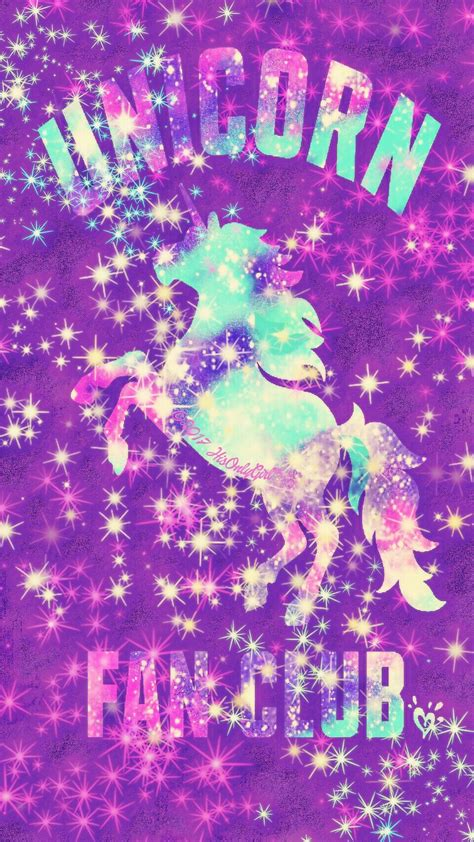 Galaxy Unicorn Neon Wallpaper by Unicorn Fan Club Sparkle Galaxy Iphone Android Wallpaper I