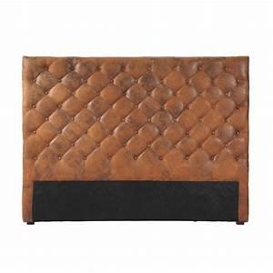 Maison Du Monde Tete De Buffle : t te de lit capitonn e imitation cuir marron l 160 cm ~ Teatrodelosmanantiales.com Idées de Décoration