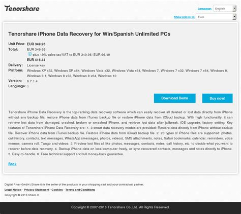 tenorshare iphone data recovery review tenorshare iphone data recovery for win unlimited