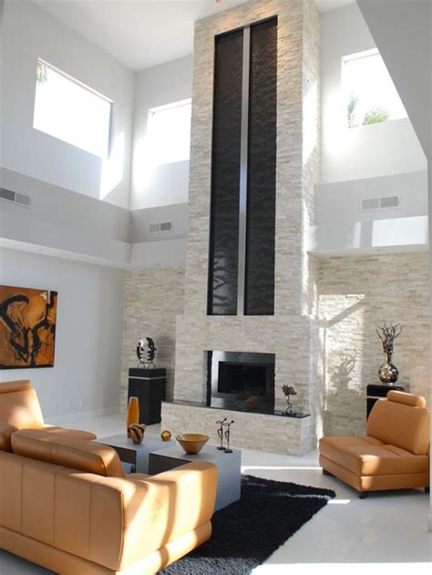 Tall Fireplace Wall Designs