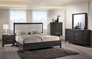 6 pc queen bedroom set gray orange county ca daniel for Bedroom furniture sets b q