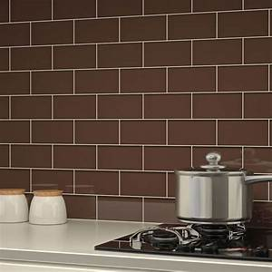 12 subway tile backsplash design ideas installation tips for Brown subway tile kitchen backsplash