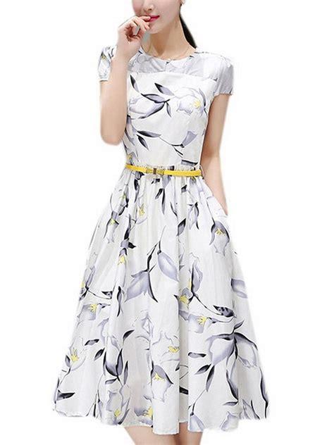 dress floral party amazon dresses spring printed womens belt tea olrain wear cocktail 1950 1960 garden