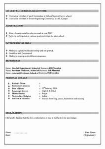 Sample Resume Format For Office Boy Sample Resume
