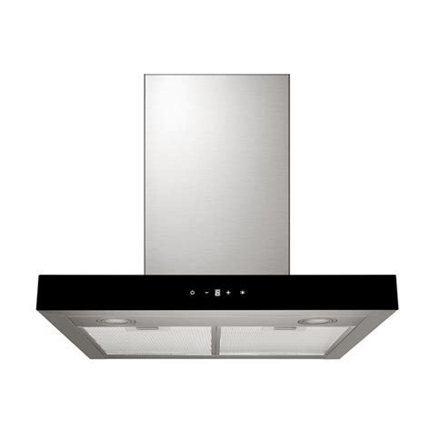 Bellini Canopy Rangehood 600mm Black Fascia   Bunnings
