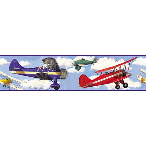 shop roommates vintage planes peel  stick wallpaper