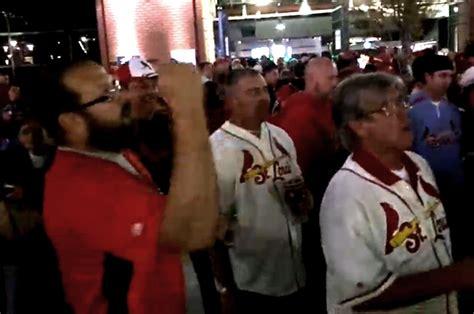st louis cardinals fans yell racist slurs  ferguson