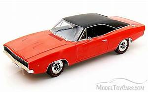 1968 Dodge Charger, Red Auto World ERTL AMM988 1/18