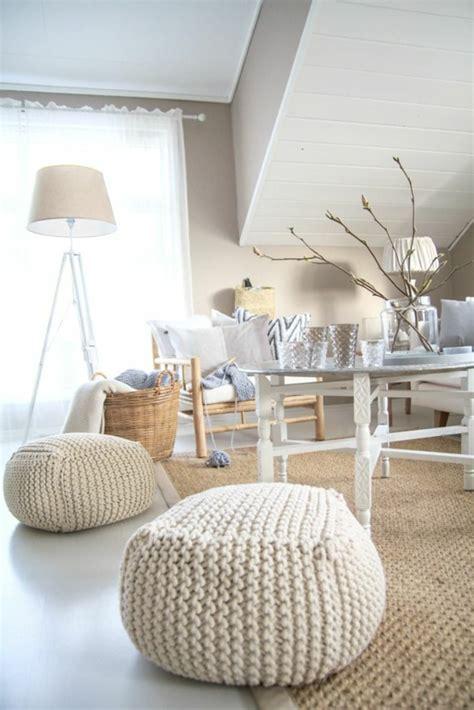 le pouf au crochet confort  beaute  la maison