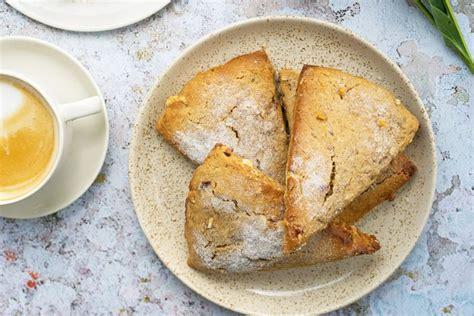 kamut flour scones  wild cherries  white chocolate