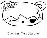 Coloring Num Noms Sunny Omelette Coloriage Sushi Printable Tori Toro Sheets sketch template