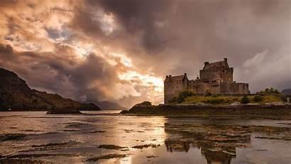 Scotland Castle Donan Eilean Desktop Wallpapers Castles