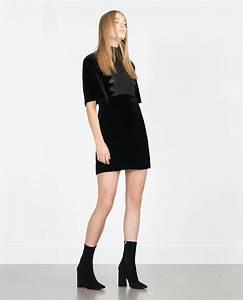 robe velours mini robes femme zara france With femme en mini robe