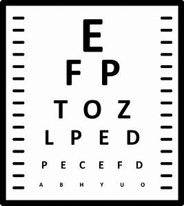 Eye Chart Svg Png Icon Free Download 63829