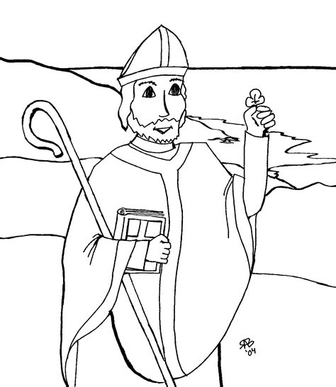 By the time of st. St. Patrick coloring page | Catholic coloring, Coloring pages