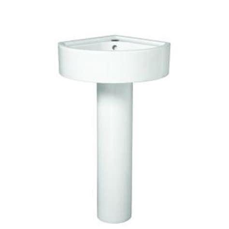 small corner bathroom sink with pedestal porcher solutions small corner pedestal combo bathroom
