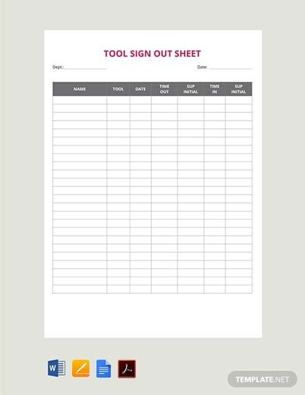 sign  sheet template  word apple pages