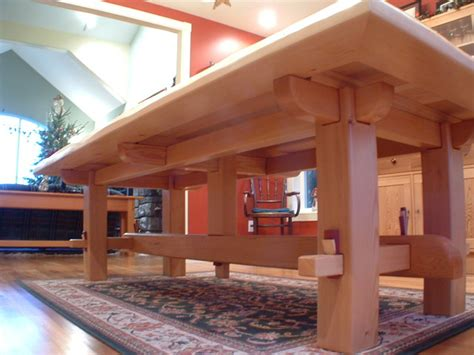 craftsman timber frame furniture asian dining tables
