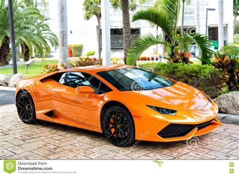 Orange Sport Car Lamborghini Aventador Editorial Photo