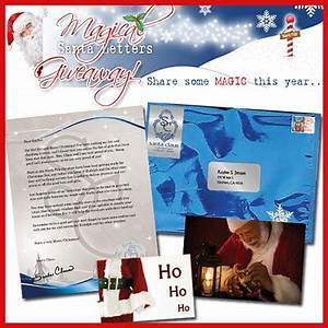 2 moms talk magical santa letter giveaway x 2 With magic santa letter