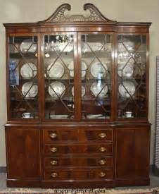 White Breakfront China Cabinet by Antique Breakfront Crotch Mahogany China Cabinet Hutch