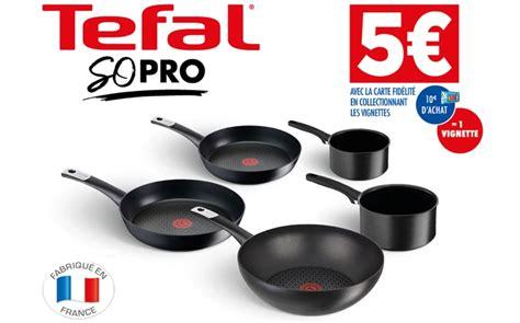 foto de Vignettes Carrefour x TEFAL : casserole poêle et wok à 5€