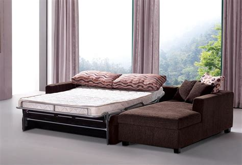 sectional sofa with sleeper bed best modern sectional sleeper sofa queen with brown fabric