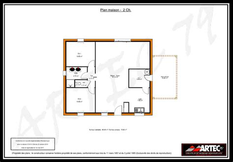 maison 2 chambres plan maison 2 chambres gratuit